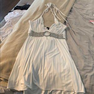 White SKY halter dress